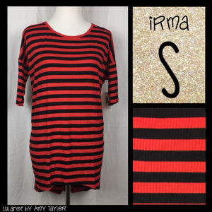 NWT LuLaRoe Irma Tunic - Stripes/Ribbed - S